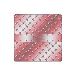 Acero rojo conocido de encargo de la placa del imán de piedra