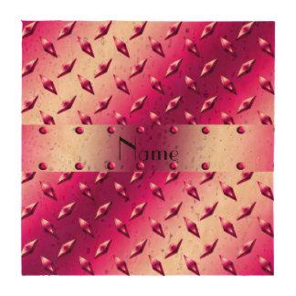 Acero rosado conocido de encargo de la placa del posavasos