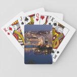 Acero y bocadillo del añil baraja de cartas
