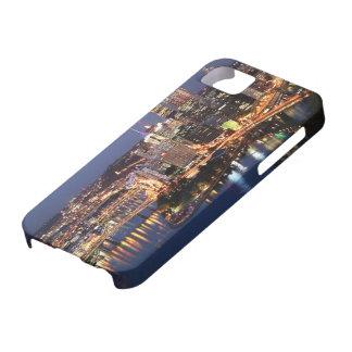 Acero y bocadillo del añil iPhone 5 carcasas