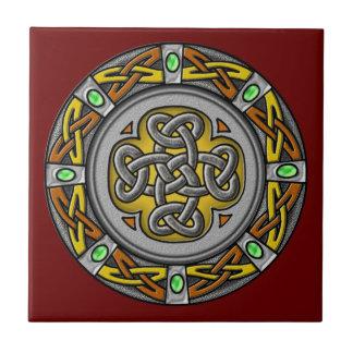 Acero y cuero de la cruz céltica azulejos cerámicos