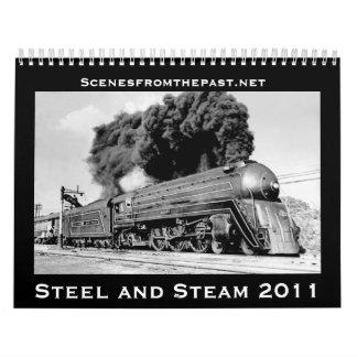 Acero y vapor - actualizados para 2011 calendarios de pared