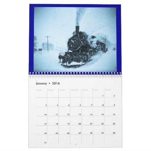 Acero y vapor - personalizable por año calendario de pared