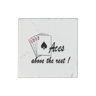 Aces Above the Rest Stone Magnet