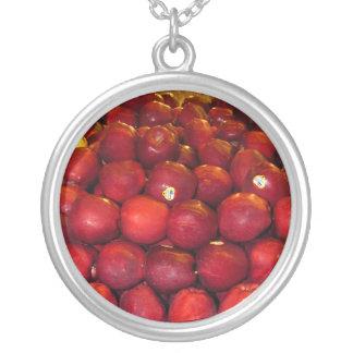 Ace's Apples Round Pendant Necklace