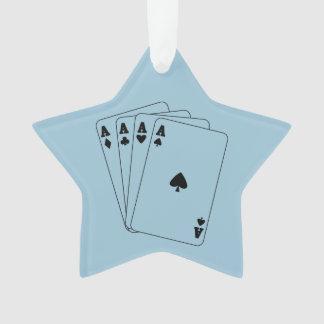 Aces Blue Ornament