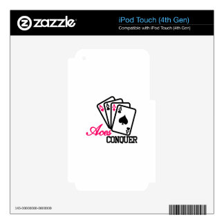Aces Conquer iPod Touch 4G Decal