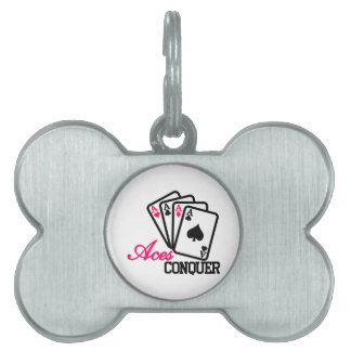 Aces Conquer Pet ID Tags