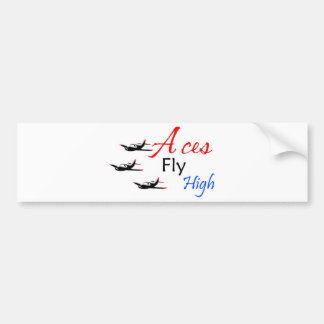 Aces fly high bumper sticker