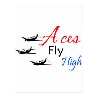 Aces fly high postcard