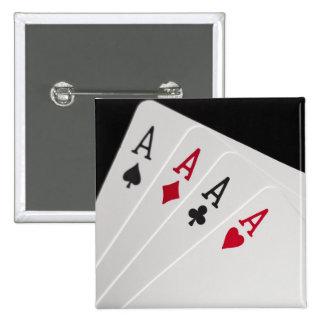 Aces Four of a Kind Button