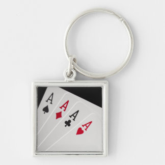 Aces Four of a Kind Keychain