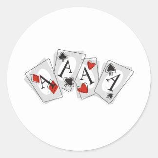 Aces High Classic Round Sticker