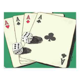 Aces High 4.25x5.5 Paper Invitation Card
