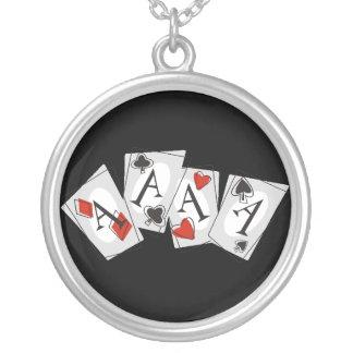 Aces High Round Pendant Necklace