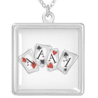 Aces High Square Pendant Necklace