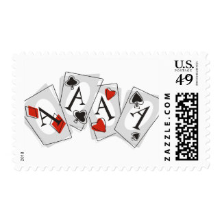 Aces High Postage Stamp