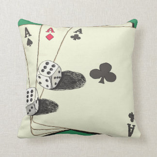 Aces High Throw Pillow