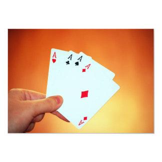 """Aces-in-hand1892 CARDA los JUEGOS de JUEGO del Invitación 5"""" X 7"""""""