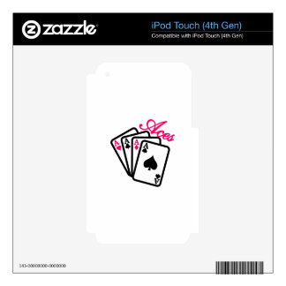 Aces iPod Touch 4G Decal