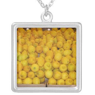 Ace's Lemons Square Pendant Necklace