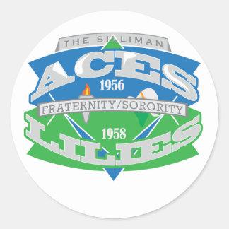 Aces-Lilies Logo Souvenier Classic Round Sticker