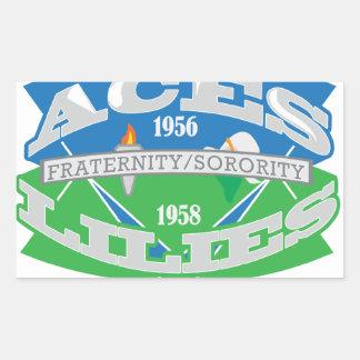 Aces-Lilies Logo Souvenier Rectangular Sticker