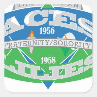 Aces-Lilies Logo Souvenier Square Sticker