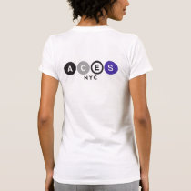 Aces NYC back City Scape Front T-Shirt