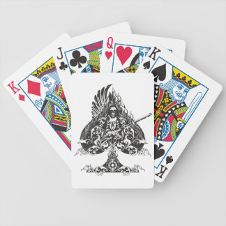 Aces of native american bicycle playing cards