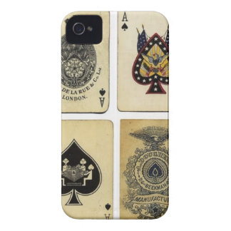 aces of spades vintage Case-Mate iPhone 4 cases