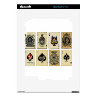 aces of spades vintage iPad 2 skin
