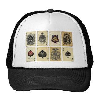 aces of spades vintage trucker hat