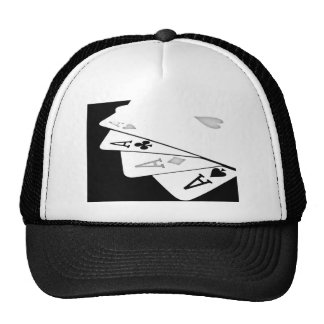 Aces on cap trucker hat