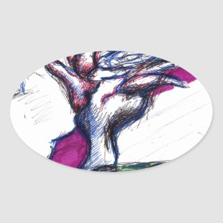 Aces Oval Sticker