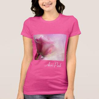Aces Pink Rose Star Ribbon T-Shirt