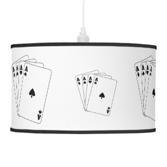 Aces Poker Cards Lamp