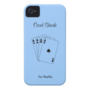 Aces Poker Hand Case-Mate iPhone 4 Cases