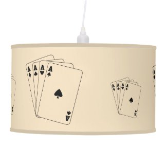 Aces Poker Hand Hanging Lamp