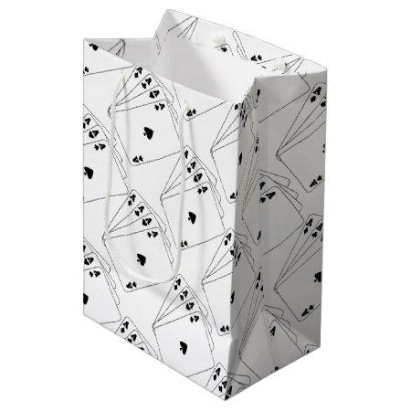 Aces Poker Hand Medium Gift Bag