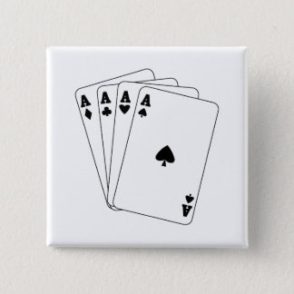 Aces Poker Hand Pinback Button