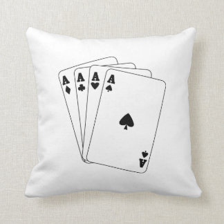 Aces Poker Hand Throw Pillow