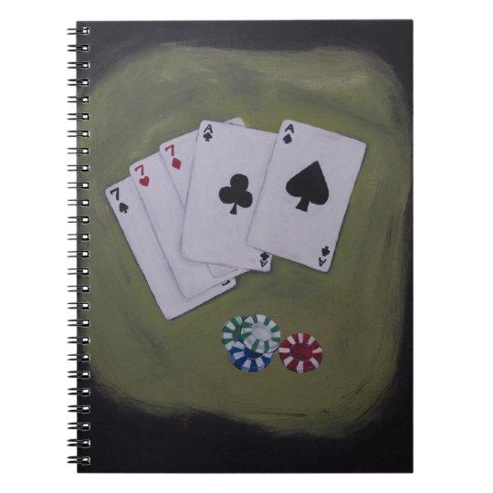 Aces & Sevens Poker Full House & Chips Notebook