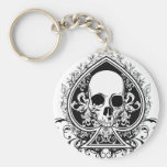 Aces Skull Key Chain