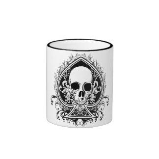 Aces Skull Ringer Mug