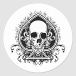 Aces Skull Stickers