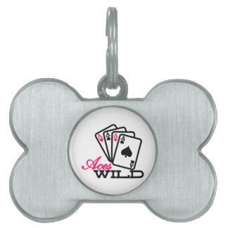 Aces Wild Pet Name Tags