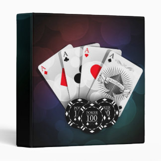 Aces with chips 3 ring binders