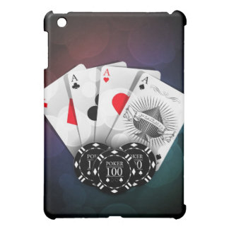 Aces with chips iPad mini case