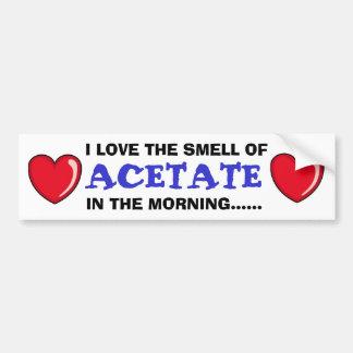 Acetate In The Morning Car Bumper Sticker